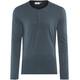 Lundhags M's Merino Light LS Henley Shirt Deep Blue
